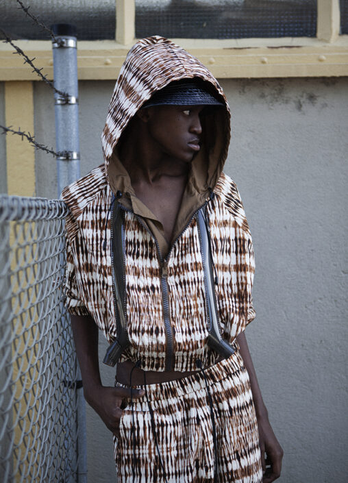 Irene Heldens X Calico Jack RE-DESIGN sustainable fashion collection - Will Falize - Tie dye jacket